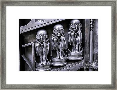 Alien Elton Framed Print by Timothy Hacker