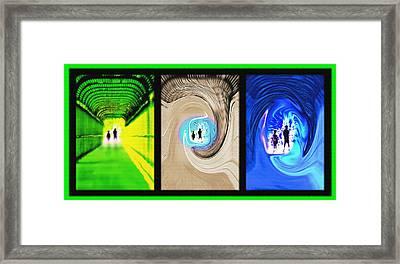 Alien Encounters Triptych Framed Print by Steve Ohlsen