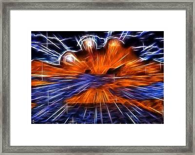 Alien Explosion Framed Print by Mario Carini