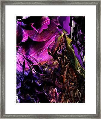 Framed Print featuring the digital art Alien Floral Fantasy by David Lane
