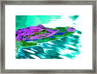 Alien Gator Framed Print
