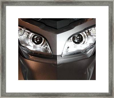Alien Headlights  Can Am Spyder Motorcycle Framed Print