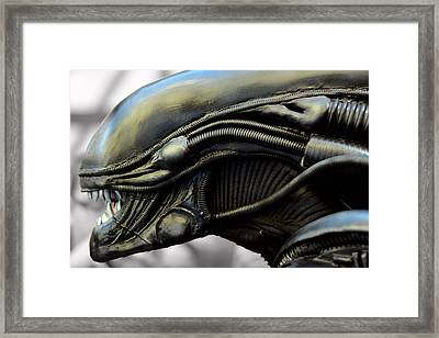 Alien In Closeup Framed Print