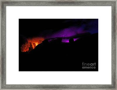 Alien Invasion - Light Show Framed Print by Inspired Nature Photography Fine Art Photography
