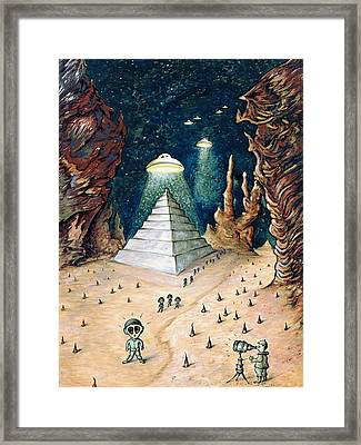 Alien Invasion - Space Art Painting Framed Print