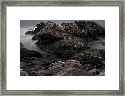 Alien Landscape Framed Print by Andrew Pacheco