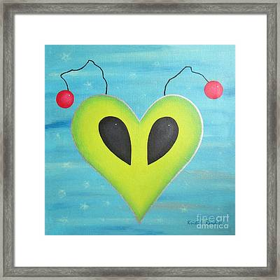 Alien Love Framed Print by Kristi L Randall