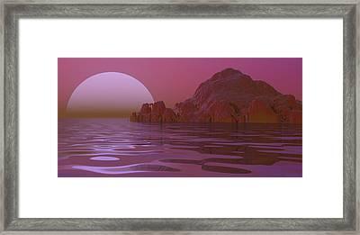 Alien Moonglow Framed Print by Wayne Bonney