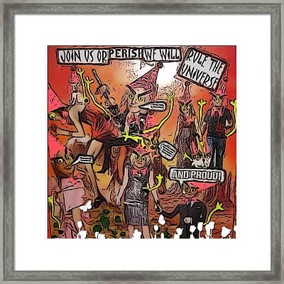 Framed Print featuring the digital art Alien Nation by Lisa Piper