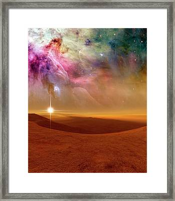 Alien Planet Forming In Orion Framed Print by Nasa, Esa, M. Robberto (space Telescope Science Institute/esa), And The Hubble Space Telescope Orion Treasury Project Team/detlev Van Ravenswaay