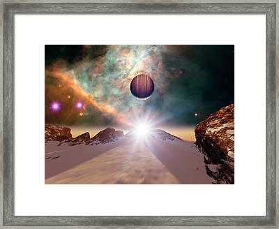 Alien Planetary System In Orion Framed Print by Detlev Van Ravenswaay