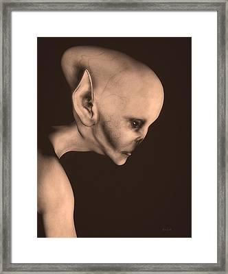 Alien Portrait  Framed Print by Bob Orsillo