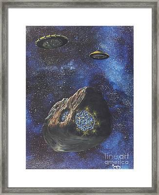 Alien Space Factory Framed Print by Murphy Elliott