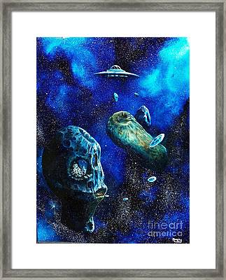 Alien Space Hideout Framed Print by Murphy Elliott