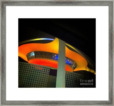 Alien Space Ship Landed Framed Print