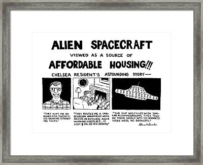 Alien Spacecraft Viewed As A Source Of Affordable Framed Print