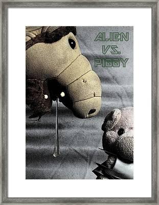Alien Vs. Piggy Framed Print