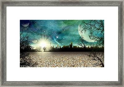 Alien World City Framed Print by Brian Wallace