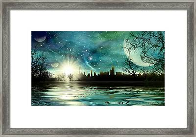 Alien World Waterscape Framed Print by Brian Wallace