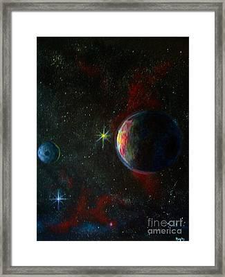 Alien Worlds Framed Print by Murphy Elliott