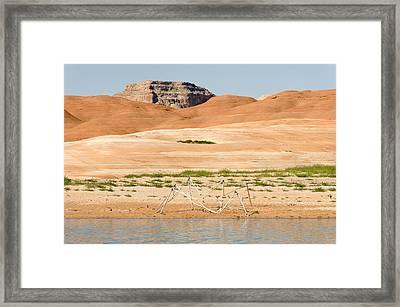 Alien Wreckage - Lake Powell Framed Print by Julie Niemela
