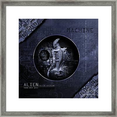 Aliens Needs Also Jesus Framed Print