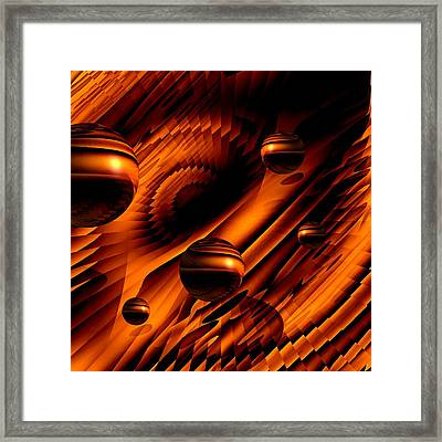 Alignment Of The Planets Framed Print by Barbara St Jean