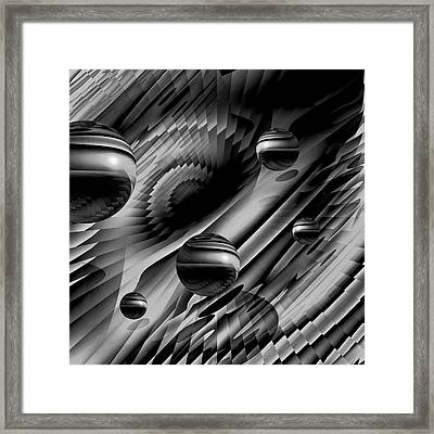 Alignment Of The Planets Bw Framed Print