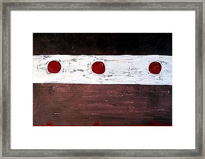 Alignment Original Painting Framed Print by Sol Luckman