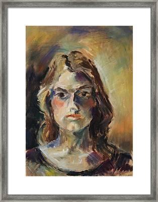 Aline Framed Print by Barbara Pommerenke
