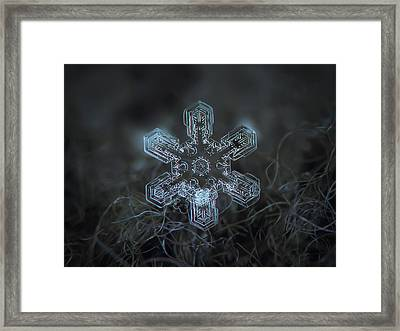 Snowflake Photo - Alioth Framed Print by Alexey Kljatov