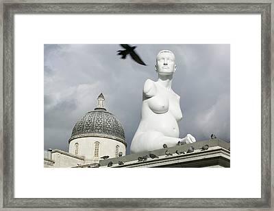 Alison Lapper Pregnant Sculpture Framed Print