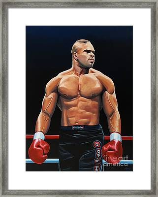 Alistair Overeem Framed Print by Paul Meijering