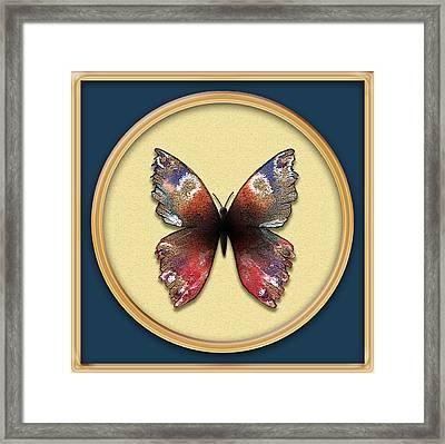 Alizarin Butterfly Framed Print