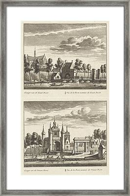 Alkmaar With City Gates And The Great Church Framed Print