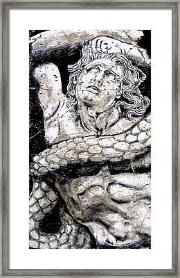 Alkyoneus - Detail No. 1 Framed Print by Steve Bogdanoff