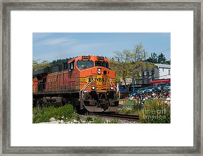 All Aboard 2 Framed Print by Malu Couttolenc