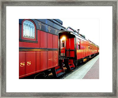 All Aboard Framed Print by Mary Beth Landis
