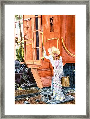 All Aboard  Framed Print by Susan Duda