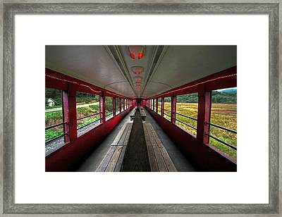 Framed Print featuring the photograph All Aboard Tioga Central Railroad by Suzanne Stout
