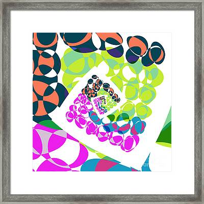 All About Dots - 061 Framed Print by Variance Collections