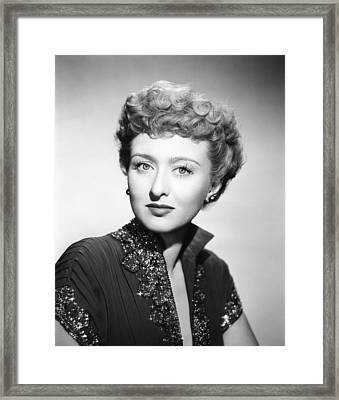 All About Eve, Celeste Holm, 1950. Tm & Framed Print by Everett