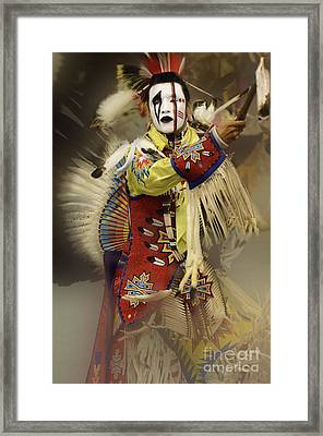 Pow Wow All About Time Framed Print by Bob Christopher