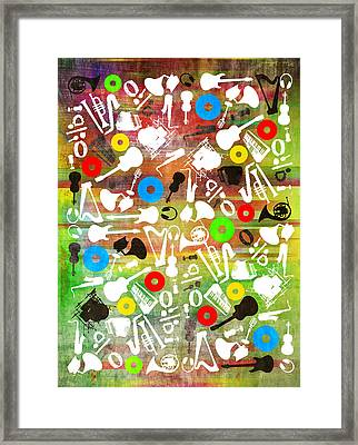 All Abut Music 2 Framed Print