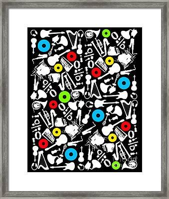 All Abut Music  Framed Print