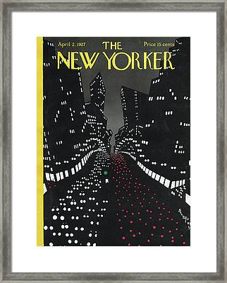 All Along The Avenue Framed Print by Toyo San