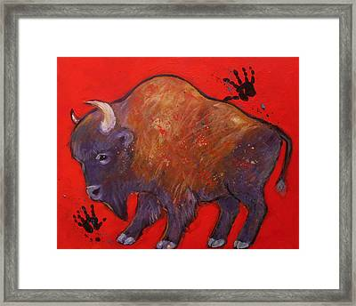 All American Buffalo Framed Print
