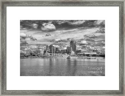All American City 2 Bw Framed Print by Mel Steinhauer