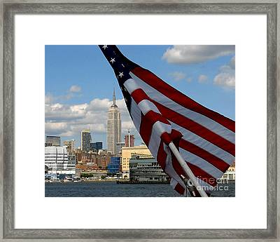 All American City Framed Print