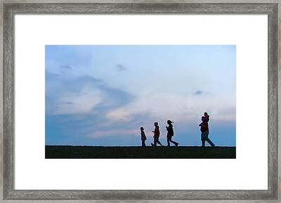 All American Family Framed Print